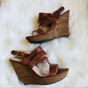[Sole Society] Brown Wedges 9.5